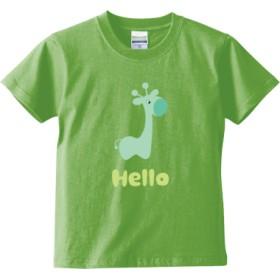 Hello Green(キッズTシャツ)(カラー : ライムグリーン, サイズ : 110)