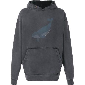 Balenciaga オーバーサイズ クジラ パーカー - グレー