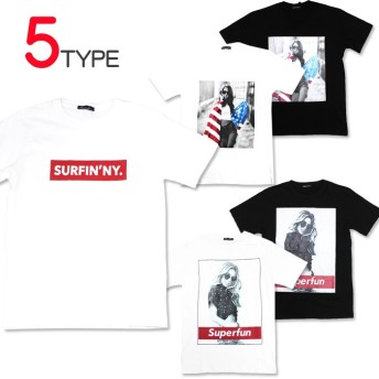 ボックスロゴデザイン メンズ Tシャツ アメリカ国旗 no406 黒 白 ブラック ホワイト ゆうパケット送料無料