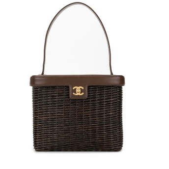 Chanel Pre-Owned ココマーク ショルダーバッグ - ブラウン