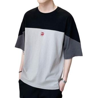 [NEXTCORNER]tシャツ メンズ 半袖 クルーネック ゆったり 夏 お洒落 綿 カジュアル