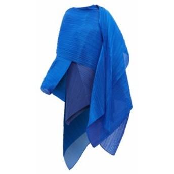 プリーツ プリーズ イッセイ ミヤケ Pleats Please Issey Miyake レディース マフラー・スカーフ・ストール Madame T pleated scarf Blue