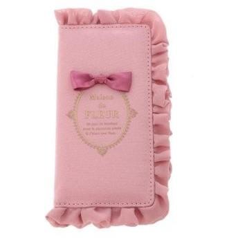 メゾンドフルール Maison de FLEUR ブランドロゴフリルアイフォンX/XSケース (Pink)