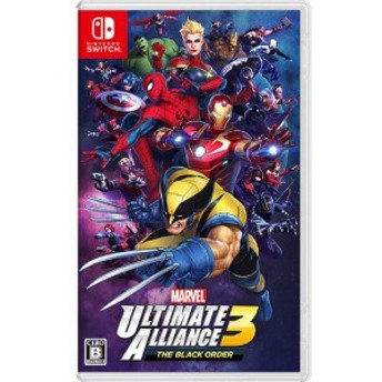【中古即納】送料無料 任天堂 MARVEL ULTIMATE ALLIANCE 3: The Black Order Nintendo Switch アクション 最大プレイ人数 対象(性別/