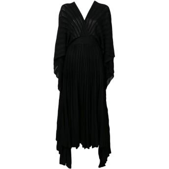 Valentino プリーツ ニットドレス - ブラック