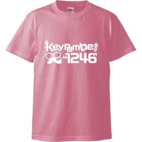 1246Tシャツ文字白(Tシャツ)(カラー : ピンク, サイズ : XL)