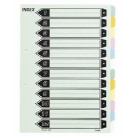 (業務用セット) カラーインデックス 6色12山(2穴) CR-IDK-120 5組入 【×10セット】
