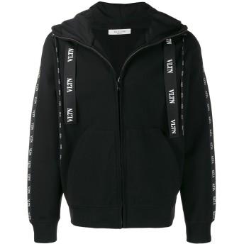 Valentino VLTNロゴ フーデッド ジャケット - ブラック