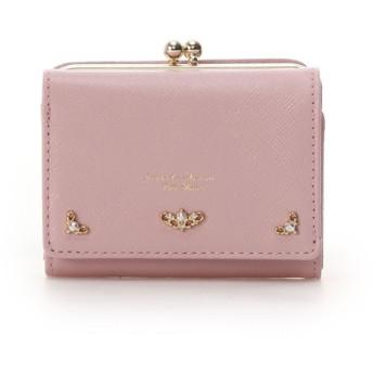 サマンサタバサプチチョイス グリッターラメレザー 折財布 ピンク