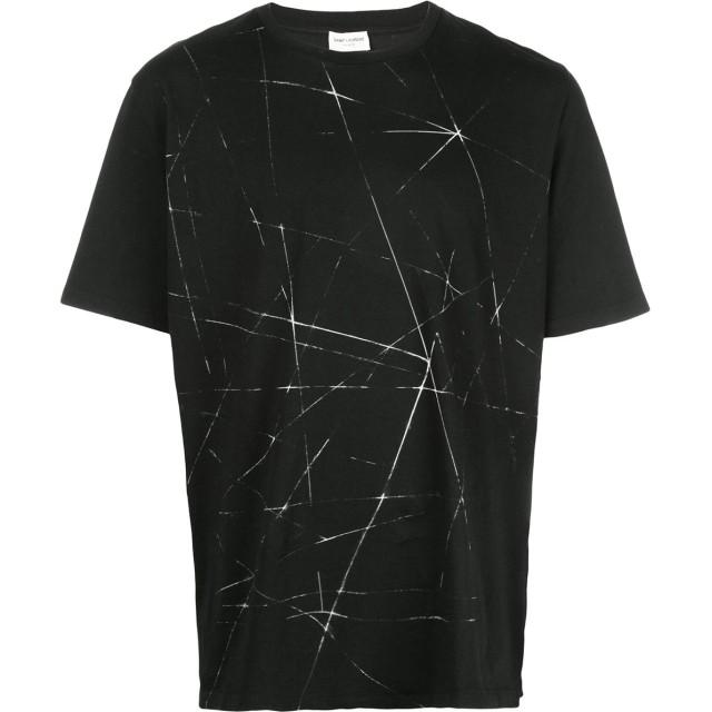 Saint Laurent プリント Tシャツ - 1095 -Noir/Naturel