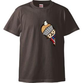 王様☆ホワイト(Tシャツ)(カラー : チャコール, サイズ : M)