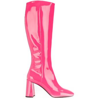 Prada エナメルブーツ - ピンク