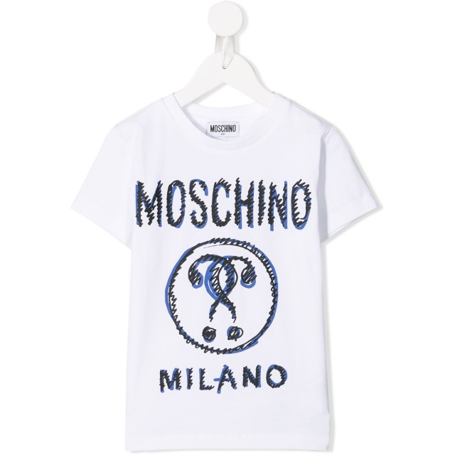 Moschino Kids Double Question Mark Tシャツ - ホワイト
