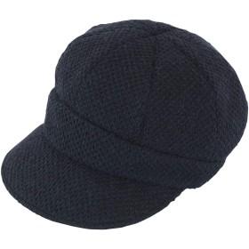 Rose Blanc(ロサブラン) 100%完全遮光 帽子 アイスランドウール キャスケット レディース UV帽子 秋冬モデル (黒)