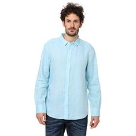 [ユナイテッドカラーズオブ ベネトン] トップス リネン長袖シャツ メンズ サックスブルー XL