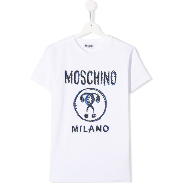 Moschino Kids Question Mark Tシャツ - ホワイト