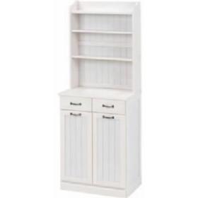 ダストボックス 木製おしゃれゴミ箱 2分別 25Lペール2個付き 白(ホワイト)  送料無料