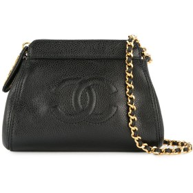 Chanel Pre-Owned ロゴ ショルダーバッグ - ブラック