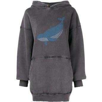Balenciaga オーバーサイズ クジラ パーカー - ブラック