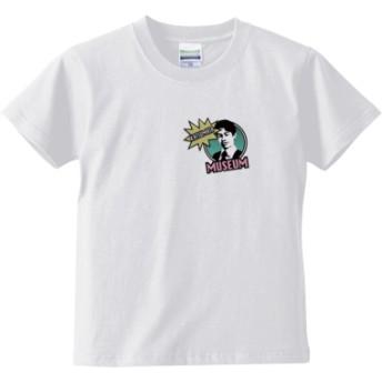 KATSUMATA MUSEUM(グリーンワンポイント) キッズTシャツ(カラー : ホワイト, サイズ : 140)