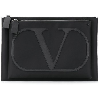 Valentino Valentino Garavani Vロゴ クラッチバッグ - ブラック