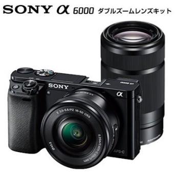 SONY α6000 ILCE-6000Y ダブルズームレンズキット ブラック [デジタル一眼カメラ (2430万画素)]