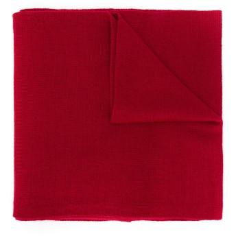 Moschino インターシャスカーフ - レッド