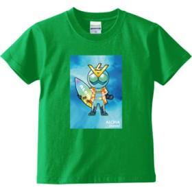 ALOHA channel アロハライダー Tシャツ<キッズ>(カラー : ブライトグリーン, サイズ : 110)