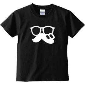 「 べ (まるべり) 」ロゴTシャツ文字白(キッズTシャツ)(カラー : ブラック, サイズ : 120)