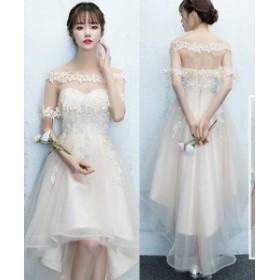 パーティードレス ワンピース お呼ばれ 結婚式 二次会 お呼ばれドレス ドレス 20代 30代 40代 大人可愛い シフォン 透け感