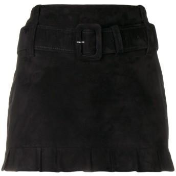 Prada ベルテッド ミディスカート - ブラック