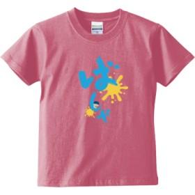 ばしゃTブルー(キッズTシャツ)(カラー : ピンク, サイズ : 150)