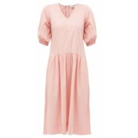 シー Sea レディース ワンピース ワンピース・ドレス Rumi V-neck cotton dress Pink