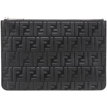 Fendi モノグラム クラッチバッグ - ブラック