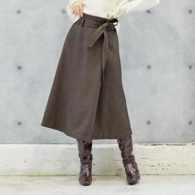 [マルイ]【セール】『andGIRL12月号掲載』ウォッシャブルラップスカート/アンレリッシュ(UNRELISH)