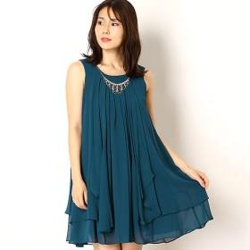 [マルイ] ビジューネックレス付き2wayシフォンワンピースドレス/ドリードール(Dorry Doll)