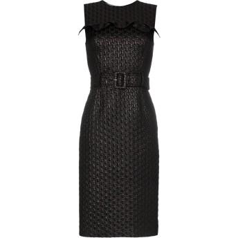 Prada ラッフル ベルテッド ドレス - ブラック