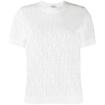 Fendi FFモチーフ ニットトップ - ホワイト
