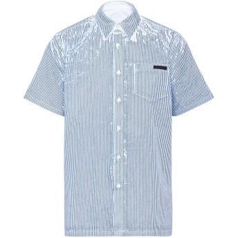 Prada ペイント ストライプシャツ - ブルー