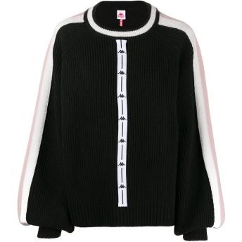 Kappa リブニット セーター - ブラック