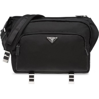 Prada ファスナー ショルダーバッグ - ブラック