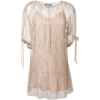 Moschino ドローストリング ドレス - ニュートラル