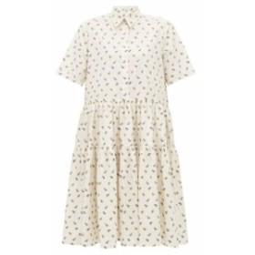 セシル バンセン Cecilie Bahnsen レディース ワンピース ワンピース・ドレス Primrose floral-jacquard cotton dress Ivory