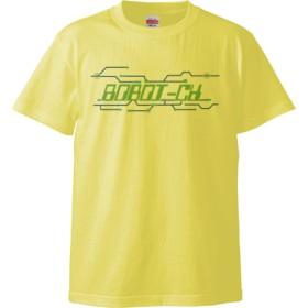 ROBOT-CH_a(5.6オンス ハイクオリティー Tシャツ)(カラー : ライトイエロー, サイズ : M)