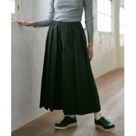 (FURIFU/ふりふ)刺繍袴プリーツパンツ/レディース ブラック