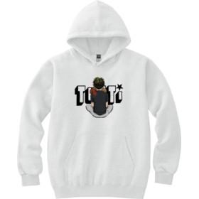 TUTTIイラスト(フーデッドパーカー)(カラー : ホワイト, サイズ : L)