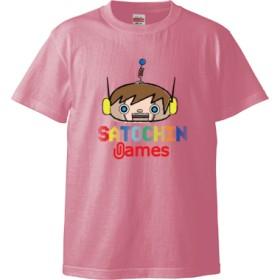 SATOCHIN games(5.6オンス ハイクオリティー Tシャツ)(カラー : ピンク, サイズ : S)