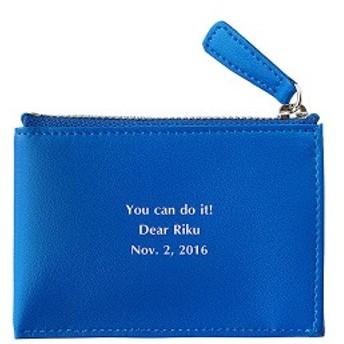 【敬老の日の記念品】【おじいちゃんへの敬老の日】【名入れ父の日】【名入れ無料】フラットコインケース ブルー