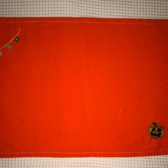 刺繍のランチョンマット☆ハロウィンのモチーフ