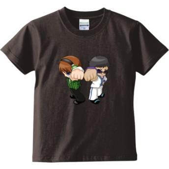 トムとマルク ver.2(キッズTシャツ)(カラー : チャコール, サイズ : 150)